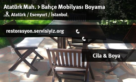 Esenyurt Ataturk Bahce Mobilyasi Boyama Istanbul Restorasyon
