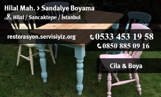 Sancaktepe Hilal Sandalye Boyama Istanbul Restorasyon