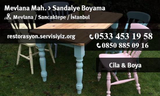 Sancaktepe Mevlana Sandalye Boyama Istanbul Restorasyon